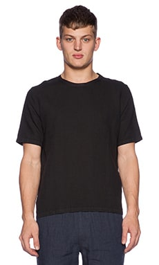 Our Legacy Weaved Washed Tee in Black