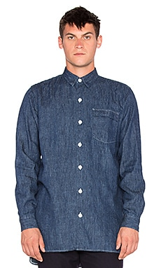 Our Legacy Shirt Coat 70z in Blue Denim
