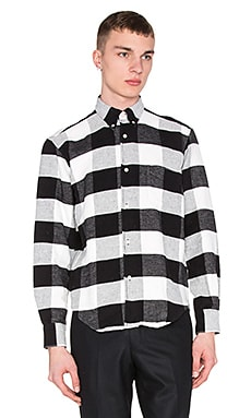 Our Legacy 1950's Shirt in Black White Flannel Plaid