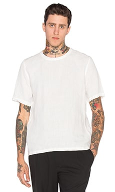 Our Legacy Weaved Tee in White Dune Linen