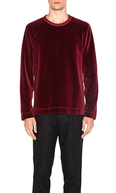 Long Sleeve Velour Tee in R