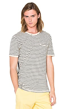 OUTERKNOWN Shoreline Pocket Tee in Shoreline Stripe