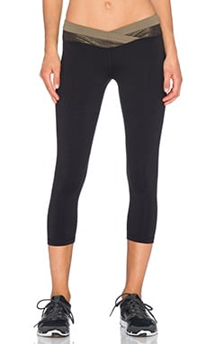 OUT Playmate Crop Legging in Provocative Black