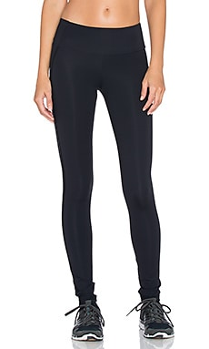 OUT Hot Date Sport Legging in Black Opaque