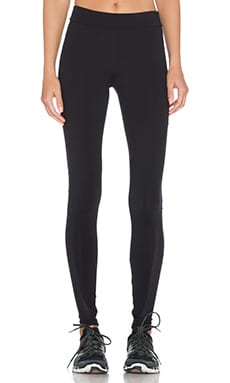 OUT Best Friend Mesh Panel Leggings in Provocative Black
