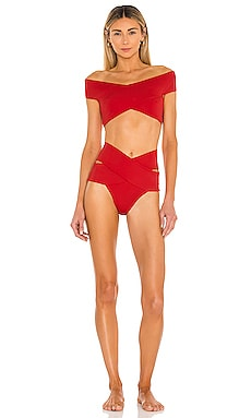 Lucette Bikini Set in Red