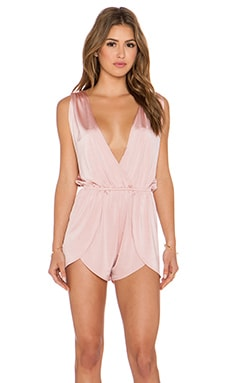 Pacific & Driftwood Pfeiffer Romper in Champagne