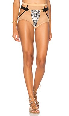 Pacific & Driftwood Raton Bottom in Nude & Black