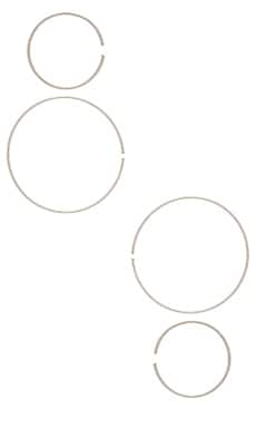 Фото - Набор серьг degree - Paradigm цвет металлический серебряный