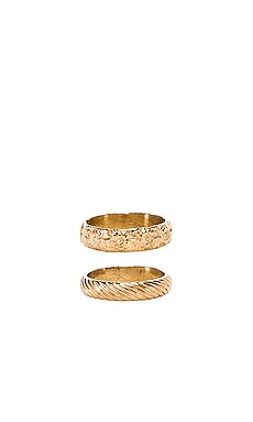 Stripe & Aloha Ring Set Paradigm $110