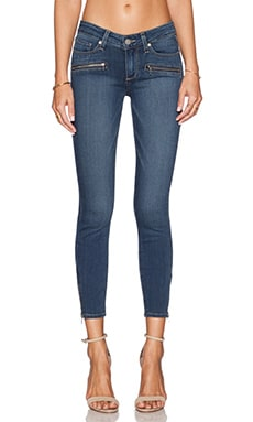 Paige Denim Jane Zip Crop in Lex No Whiskers