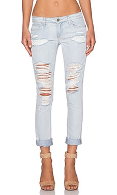Paige Denim Jimmy Jimmy Skinny in Sawyer Destructed