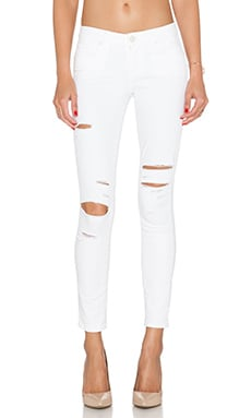 Paige Denim Verdugo Ankle Skinny in Shell Arlo Destructed