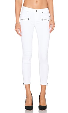 Paige Denim Jane Zip Crop Skinny in Ultra White