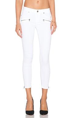 Paige Denim Jane Zip Crop Skinny in Ultra White