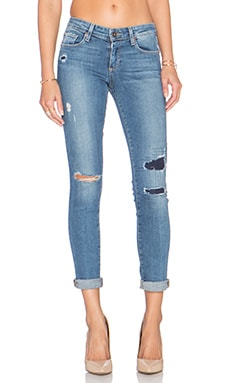 Paige Denim Skyline Ankle Peg Skinny in Esme Destructed