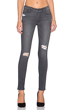 Paige Denim Verdugo Ankle Skinny in Luna Grey Destructed