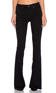 Paige Denim High Rise Bell Canyon in Black Shadow