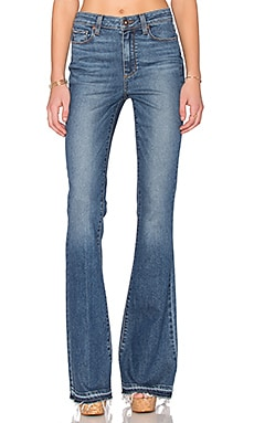 Paige Denim High Rise Bell Canyon in Tay