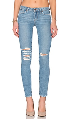 Paige Denim Skyline Ankle Peg in Brynlee Destructed