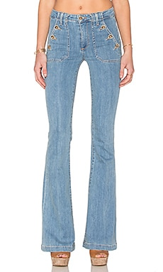 Paige Denim High Rise Bell in Lila