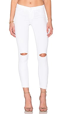Paige Denim Verdugo Ankle in White Mist Destructed