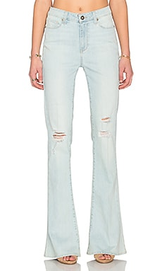 Paige Denim High Rise Lou Lou Flare in Lainey Destructed