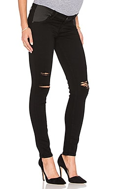 Paige Denim Verdugo Ultra Skinny in Black Shadow Destructed