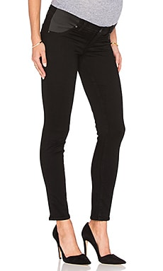 Paige Denim Skyline Ankle Peg in Black Shadow