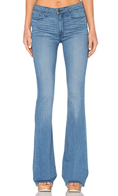 Paige Denim High Rise Canyon Bell in Harbor