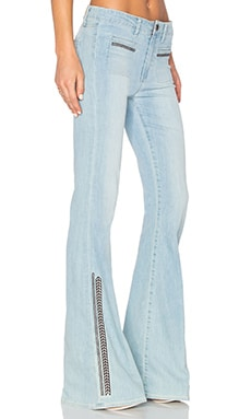 Paige Denim Vintage High Rise Canyon Bell in Braylee Embroidered