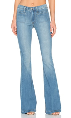 Paige Denim Vintage High Rise Canyon Bell in Aubrey