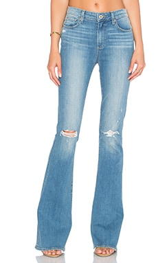 Paige Denim High Rise Bell Canyon in Gia Destructed