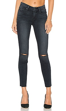 Paige Denim Verdugo Unfinished Hem Ankle in Kaleea Destructed