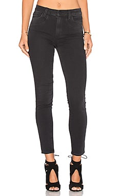 Paige Denim Hoxton Ankle Vintage Seam in Black Fog