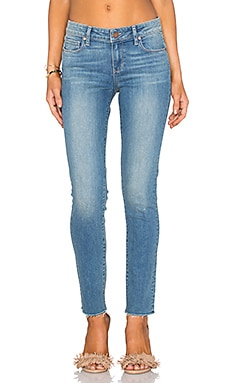Paige Denim Skyline Raw Hem Ankle Peg in Cressida