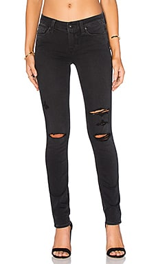 Paige Denim Verdugo Ankle in Carbon Black Destructed