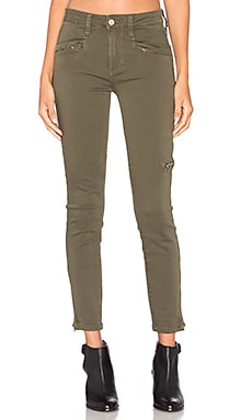 Paige Denim Daryn Zip Ankle in Olive Leaf