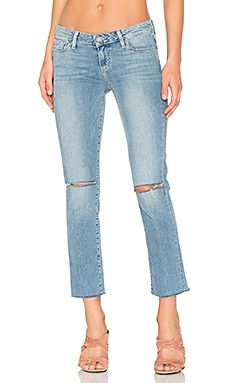 Miki Straight Frayed Hem en Bella Destructed