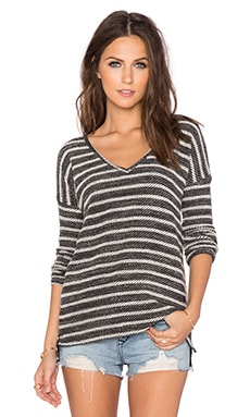 Paige Denim Martine Top in Black with White Stripe