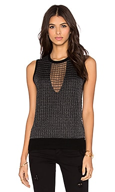 Paige Denim Abril Sweater in Black & Charcoal Metallic