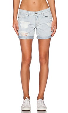 Paige Denim Grant Short in Sawyer Destructed
