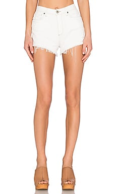 Paige Denim Margot Short in Blanc Destructed