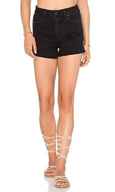 Paige Denim Margot Short in Vintage Black