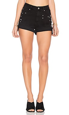 Margot Short in Noir Studded Heart