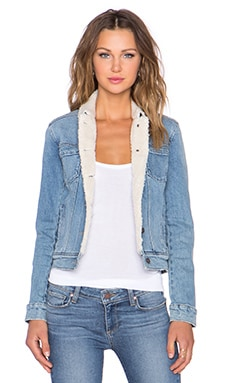Paige Denim Aspen Shearling Jacket in Haven