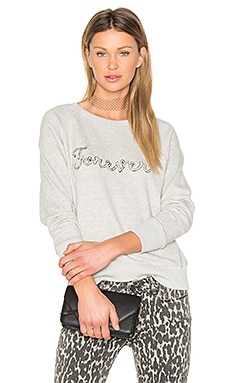 Rosie HW x PAIGE Forever Sweatshirt in Heather Grey