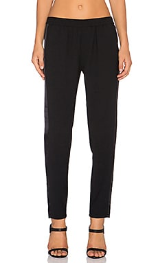 Paige Denim Lilo Pant in Black & Black Tux Stripe