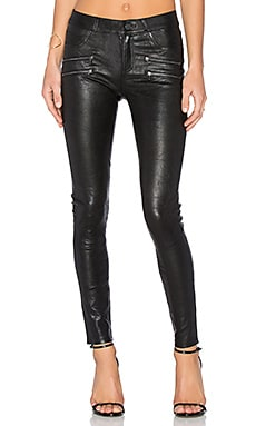 Edgemont Leather Pant en Noir