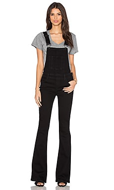 Paige Denim Tavie Flare Overall in Raven Black